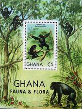 GHANA 1982 Block 94 S/S 788 Schimpanse Fauna Animals Tiere Affen Apes MNH
