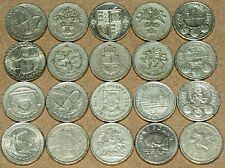 More details for 20 x old one pound coin £1 round job lot circulated bridges shields dragons
