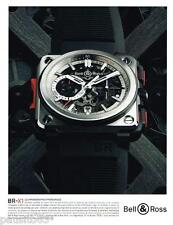 PUBLICITE ADVERTISING 0105  2014   BELL & ROSS montre BR-X1 chrono hypersonique