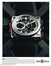 PUBLICITE ADVERTISING 0105  2014   BELL & ROSS montre BR-X1 chrono hypersonique