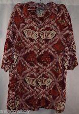 Big Dogs Hawaiian St. Bernard Poker Ace of Spades Palm Lucky Shirt Men's XL