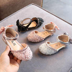 Baby Girls Kid Casual Princess Formal Party Shoe Baby Toddler Kid Trainner Shoes