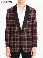 J.CREW Ludlow tartan blazer 40R jacket sport coat tweed plaid shawl collar 40 R