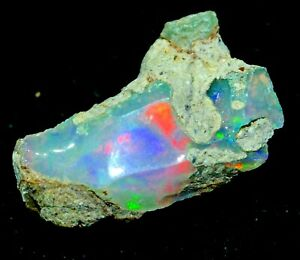 Natural Ethiopian Fire Opal 3.15 Ct Certified Play of Color Gemstone Rough