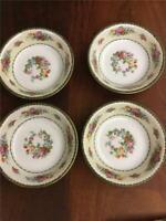 """Porcelain Union K 5"""" Dessert Bowls Pun 9 Set of 4"""