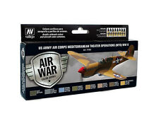 Vallejo Model Air US Army Air Corps Mediterranean Theatre Operation MTO WWII Set