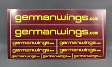 Germanwings Stickerbogen mit 9 Sticker Aufkleber NEU Logo Airline Fliegen Flug