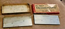 Lot Of 2 Vintage Ls Starrett Adjustable Parallel Tool 154f In Original Box