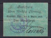 Neustadt En Wpr Wejherowo-Magistrado-50 Peniques-Dießner 260.1a