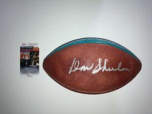 Don Shula Vintage Signed JSA Football Miami Dolphins Dan Marino ERA