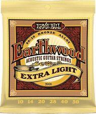 2 Sets of 2006 Ernie Ball Earthwood Bronze EX Light 10-50 Acoustic Guitar String