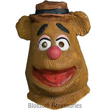 A522 The Muppets Fozzie Bear Deluxe Adult Overhead Mask Costume Accessory