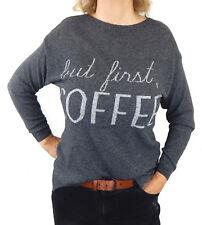 Ella Jonte weicher Feinstrick Pullover grau Größe 38 40 42 Gr. M Made in Italy