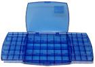 """Accessory box, 10""""x7.5"""", blue plastic, empty"""