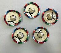 SET OF 5 MINI DECORATION HATS ,MEXICAN SARAPE , PARTY FAVORS , 5 DE MAYO ,MEXICO