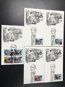 US FDC 3912-15 The Art Of Disney Set Of 4 First Day Of Issue 8 Stamps 5 Covers.