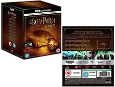 HARRY POTTER 1-8 (2001-2011) 4K ULTRA HDR BLU-RAY COMPLETE 7 STORIES/8 MOVIES UK