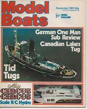 MODEL BOATS MAGAZINE NOVEMBER 1981 -