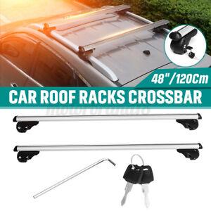 48'' Universal Car Roof Rack Top Cargo Luggage Carrier Cross Bar Adjustable