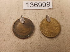 1947 + 1953 Spain Una Peseta Earrings Unique Collectible Coins - # 136999