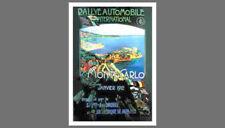 Monte Carlo Rally 1912 Auto Racing Event Poster Reprint (Artist E. Ximenes)
