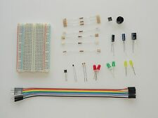 Beginners Electronics Kit for Raspberry Pi. With components and instructions.