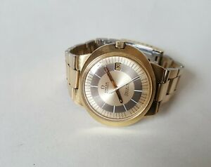 Men's Vintage Gold Plated Omega Geneve Dynamic Wrist Watch GWO