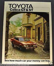 1975 Toyota Celica Catalog Sales Brochure GT ST US Market Excellent Original 75
