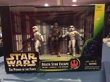MISB Star Wars POTF2 Death Star Escape Han Stormtrooper Luke Chewbacca .01