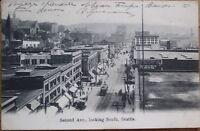 Seattle, WA 1909 Postcard: Second Avenue/Downtown - Washington State