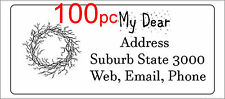 100 Personalised return address label mailing sticker 56x25mm crown of thorns