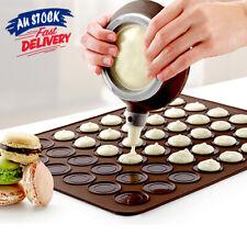 48 Macaron Sheet Mat Macaroon Stick Baking Mould Non Silicone Cavities Tray