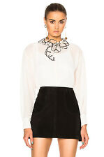 NEW SEE BY CHLOE  SHEER BUTTON UP TOP- Winter White size 38 $475