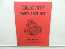 1979 Ducati Parts Price List Moto Guzzi Ducati 900 SD Desmo Super Sport L10427