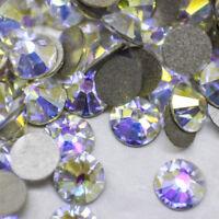 Swarovski Crystals SKY AB flat back stones rhinestones gems non hotfix for nails