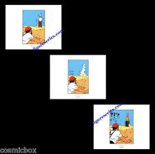 Lot 3 Ex-libris TINTIN et Le CRABE aux PINCES d'OR affiche BD Haddock figurines