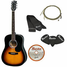 Gibson Acoustic Guitar Full Size +Strap/picks/Extra String Set/lesson DVD,41""