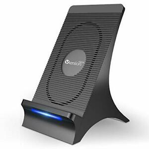 VersionTECH. Wireless Charger with Cooling Fan Qi-Certified 15W Max Wireless ...