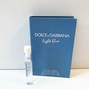 Dolce & Gabbana Light Blue Pour Homme Eau de Toilette mini Spray, 1.5ml, NEW
