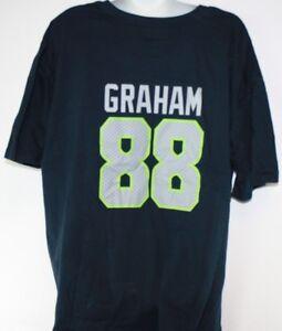 NEW Womens Seattle Seahawks Short Sleeve Jimmy Graham #88 Football Tee T-Shirt