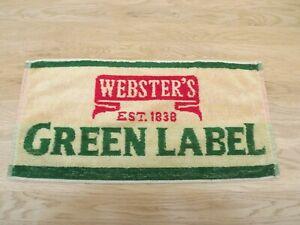 Vintage Webster's Green Label   Beer Bar Towel used