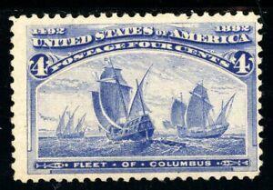 USAstamps Unused FVF US 1893 Columbian Expo Fleet of Columbus Scott 233 OG MHR