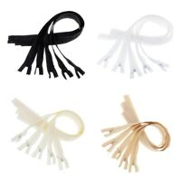 20 Sets OPEN END Invisible Concealed Nylon Zips Hidden Zippers