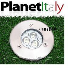 FOCO EMPOTRABLE LED DE EXTERIOR SEGNAPASSO CALPESTABILE 3 LED 3w IP67 220V