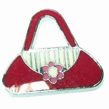 5 Pcs 21x19mm Bag Zinc Alloy Enamel Charm Pendants - A0378