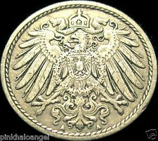 Germany German Empire 1911A 5 Pfennig Coin 106 years old
