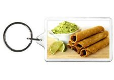 TAQUITOS KEYCHAIN - DOUBLE SIDED ACRYLIC FOOD KEYRING