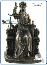 Justitia, Lady Justice,Bronzed Resin Figurine,Veronese Myths and Legends # 95268
