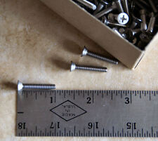 "Stainless Steel Machine Screw Flat Hd Phil  8-32 x 1""-100 CT"