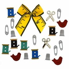 Novelty Sewing Theme Button Embellishments #554